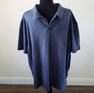 B2G1 Men's Haggar Blue Knit Polo Top